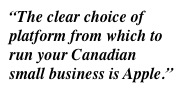 Apple as hardware choice for Canadian small business