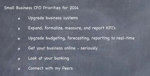 Small Business CFO's Priorities 2014